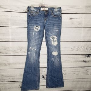 Hollister highly distressed Cali flare jeans